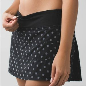 Lululemon Pace Rival Skirt II in Ghost Dot Sz 6
